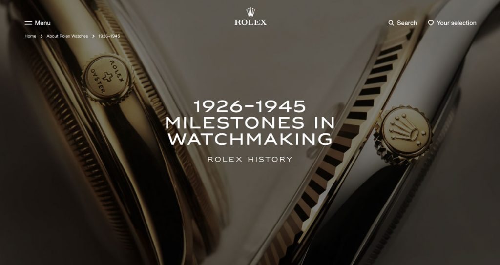 Rolex History Screenshot